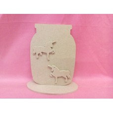 4mm MDF Jar with Unicorns